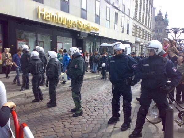 Absperrung des Rathausmarkts