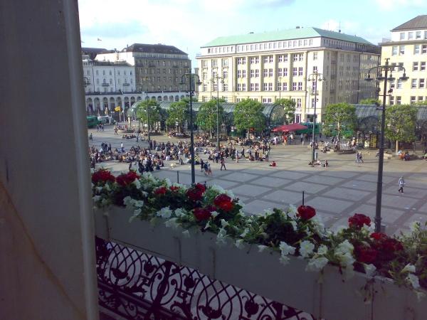 Blick aus dem Rathaus